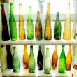 Ancient vintage bottles — Stock Photo