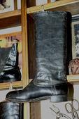 Ryska läder boot — Stockfoto