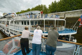 Pasajeros de barco crucero — Foto de Stock