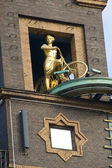 Cycliste femme — Photo