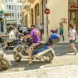 Mediterranean urban life — Stock Photo
