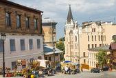 Andreevsky 后裔在基辅 — 图库照片