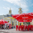 Street cafe in Kiev — Stockfoto