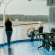 Onboard of river cruise ship — Stock Photo