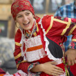 Russian national clothes. — Stock Photo