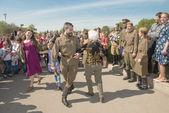 Dancing in Victory Day — Stock Photo