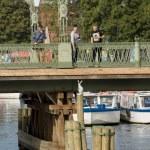 Ioanovsky Bridgein in Sankt Petersburg — Stock Photo
