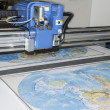 Plotter plotting some map — Stock Photo