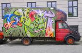 Carro de graffiti — Foto Stock