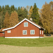 Norwegian Wooden House — Stock Photo