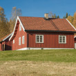 Norwegian Wooden House in  — Stock Photo