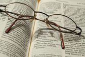 Bible and glasses — Foto de Stock