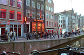 Amsterdam Red Light District — Stock Photo