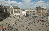 Dam Square in Amsterdam — Stock Photo