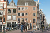 Amsterdam urban life — Stock Photo