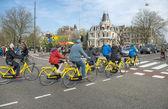 Amsterdam bacycles — Stock Photo