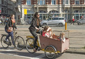 Baby bicycle carriages — Stock Photo