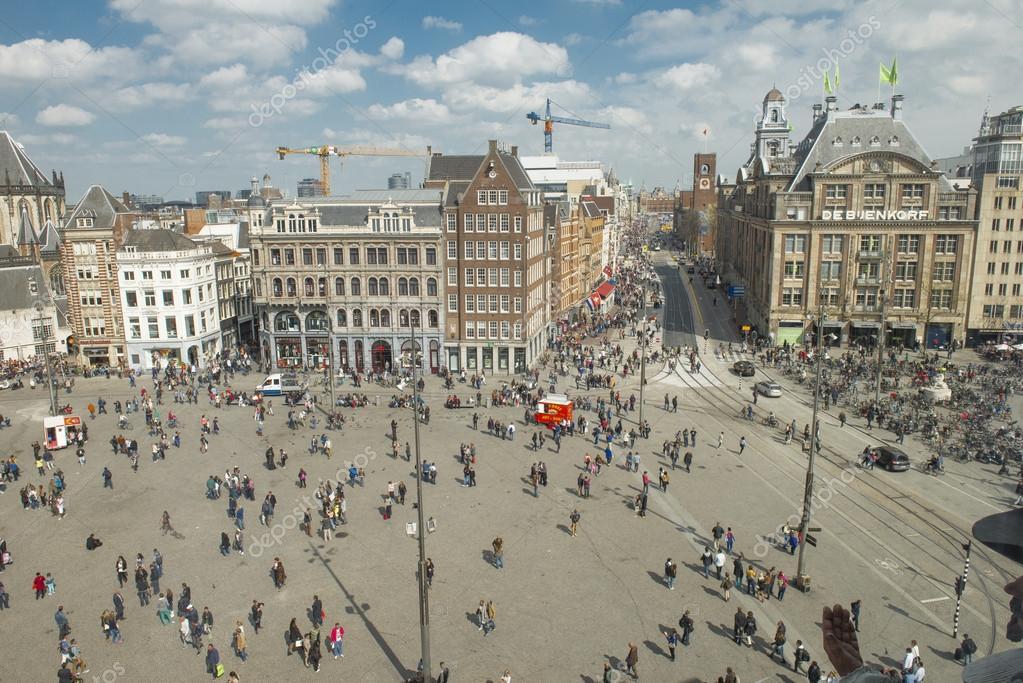 Amsterdamda dam meydan stok editoryel foto raf for Ostello amsterdam piazza dam