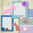 Greeting scrapbook card. — Vettoriali Stock