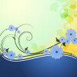 Vector de stock : Spring background with flowers