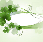 Vector background with clover — 图库矢量图片