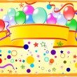 Colored background with balloons — Stock Vector #3119634