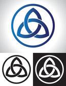 Vecteur de noeud celtique de trinité — Vecteur