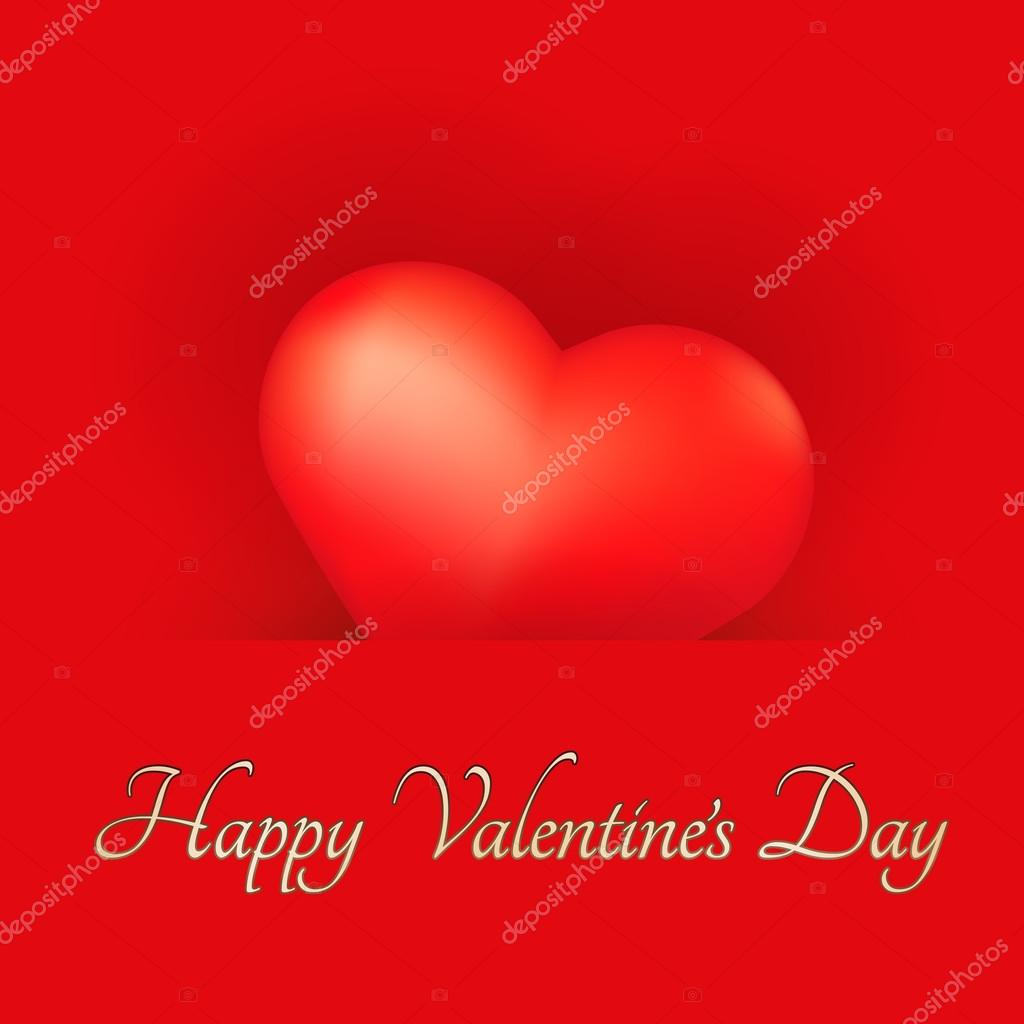 Festive Valentine's Day Card with Heart. — Vettoriali Stock  #15791667