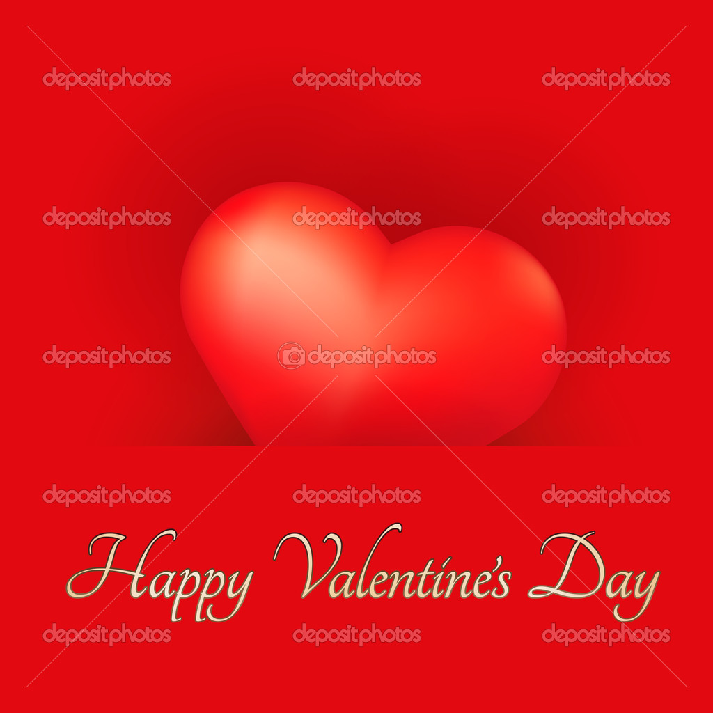 Festive Valentine's Day Card with Heart. — Stockvectorbeeld #15791667