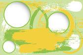 Grunge 背景与空白的圈子 — 图库矢量图片