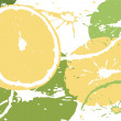 Citrus abstract backdrop - Stock Vector