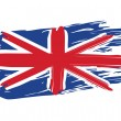Stock Vector: Painted British Flag