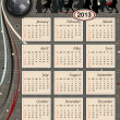 Vector de stock : Calendar 2013 - USA