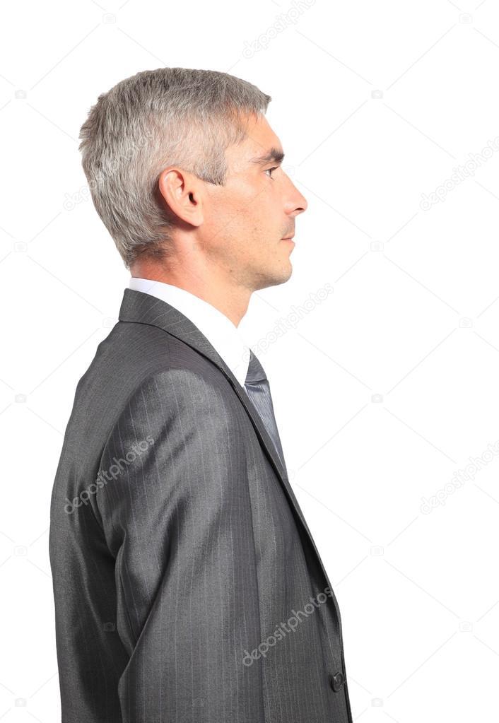 картинка человека в профиль карандашом