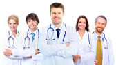 Smiling medical doctors with stethoscopes — Stock Photo