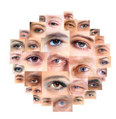 Set of Different Open Eyes — Stock Photo