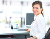Modern business woman in the office — Stock Photo