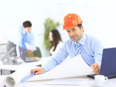 Portrait of an architect in the office — Stock Photo
