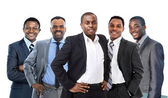 Young African American Business Man leading a team — Stock Photo