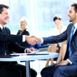 Стоковое фото: Meeting, men, mixed, modern, office, partnership, , person, planning, portrait, professional, sitting, smiling, success, successful, table, talking, team, teamwork, together, woman, women, work