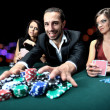 Стоковое фото: Attractive, bet, betting, card, casino, caucasian, chance, chips, dress, drink, elegant, excited, fashionable, female, formal, friends, fun, gamble, gambler, gambling, game, green, group, happy,