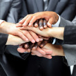 Close, colleagues, company, concept, corporate, deal, design, floor, friends, group, hand, hands, ha — Stock Photo