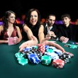Attractive, bet, betting, card, casino, caucasian, chance, chips, dress, drink, elegant, excited, fashionable, female, formal, friends, fun, gamble, gambler, gambling, game, green, group, happy, — Stock fotografie #25789845