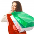 Young woman holding several shoppingbag — Stock Photo #2891781