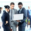 Successful business people working together — Stockfoto