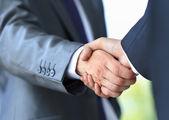 Handshake in office — Stock Photo