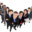 Stock Photo: Top view of a group of business people