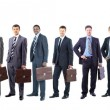 Young attractive business people - the elite business team — Stock Photo