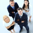 Top view of business people — Stockfoto