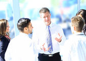 Business people working and discussing together at meeting in office — Stock Photo